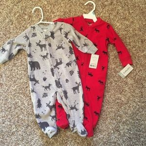 Carter's moose sleepers bundle of 2 size 6 months
